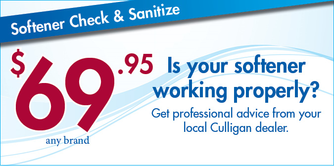 $69.95 Softener Check and Sanitze